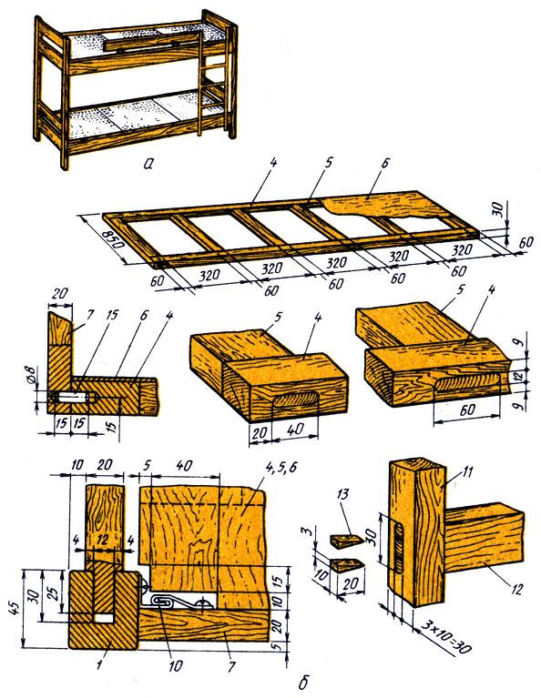 Как сделать двух ярусную кровать своими руками
